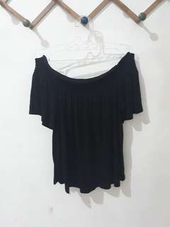 H&M Black Sabrina Top