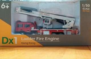 TINY 1:50 香港消防車DX系列 雲梯升降台 消防車  模型