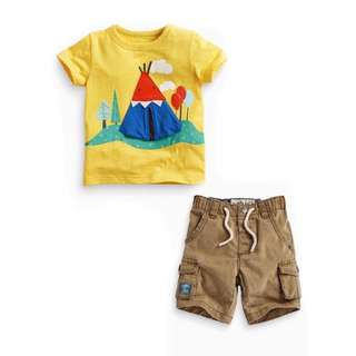 Boys short-sleeved T-shirt + pants