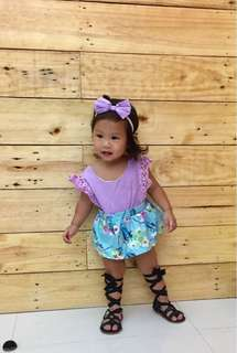 Purple baby romper