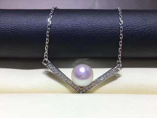 925純銀天然淡水珍珠墜