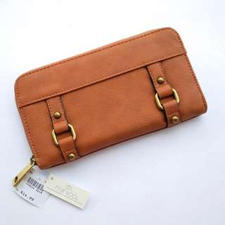 MINICCI Faux Leather Tan Zippered  SRP14.99USD