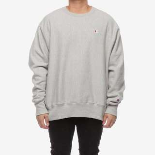 Champion Rev Weave Crew Grey Jumper