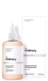 the ordinary glycolic acid toner share in bottle