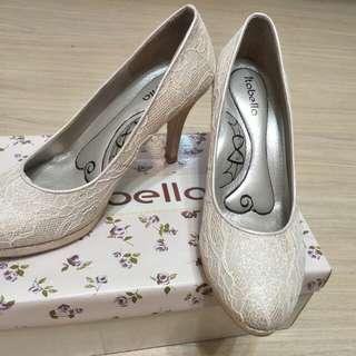 Itabella 香檳色高跟婚鞋