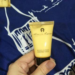 Aigner body lotion and conditioner (travel size)