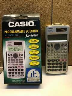 Casio計數機 FX 3650P 有盒