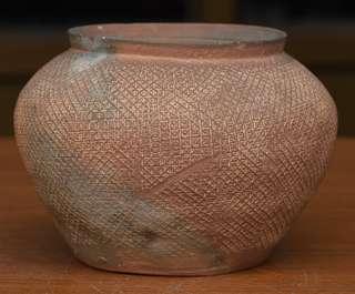 🚚 春秋戰國 網格印紋 陶罐