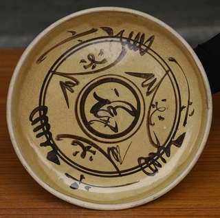 磁州窯 福字盤