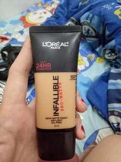 Loreal matte infallible skin tone 107
