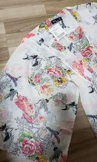 Asos Spring Kimono Long Chiffon Cardigan Drape