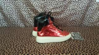 Alexander McQueen Lace Up High Wedges Sneaker Second Branded Import