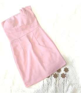 Party dress pink kemben