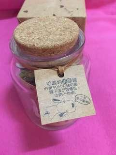 🚚 毛線狗拼圖罐 30片丸豬拼圖 玻璃罐 兒童節禮物 #五十元好物