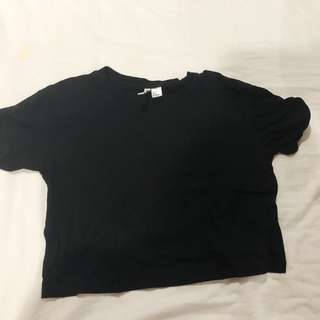 H&M black crop top t-shirt