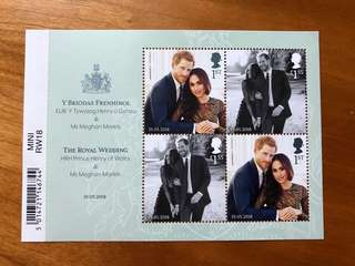 England Royal wedding 2018 mini sheet stamps