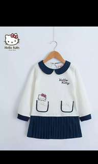 Authentic Hello Kitty White Navy Dress