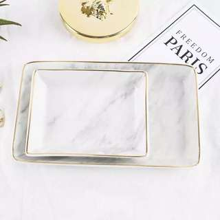 Marble jewelry tray
