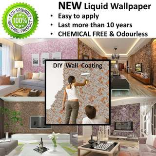 NEW 6D Liquid Wallpaper Coating BEST For Feature Wall Design ( Korean Wallpaper , 3D Wallpaper , stone Wall )