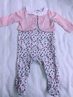 Baby Girl Romper(Mothercare)