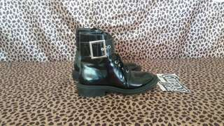 Zara Trafaluc Boots Black Second Shoes Branded Import
