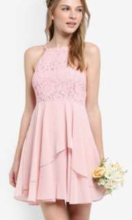Bridesmaid Lace Bodice Fit and Flare