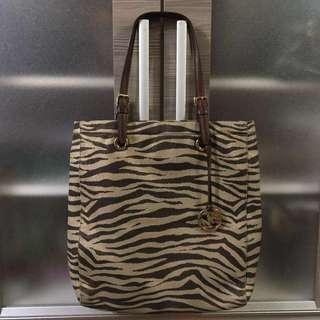 Authentic Michael Kors Tote North South Tote Bag in Zebra Print