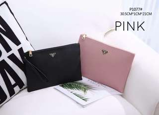 Prada Clutch Pink 2 in 1