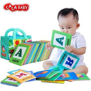 Lala baby 26 letters soft cloth cards