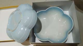 Le Creuset全新Powder blue 大深花 1 set(2隻)