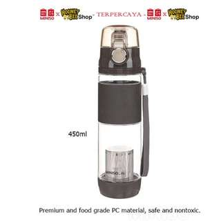 Japan Quality - Botol mInum sport Miniso 450ml Nontoxic Water Botol