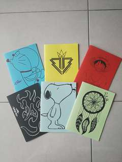 Custom Made & Hand drawing notebooks