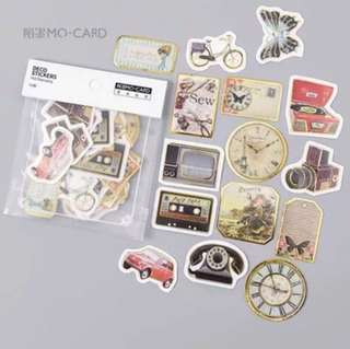 [Stickers] #28 Vintage Artifacts Stickers for diary and scrapbooking