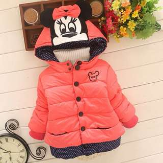 Girls cotton coat and velvet jacket