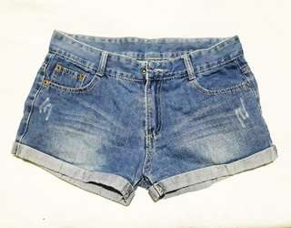 Denim shorts, fits small to medium