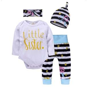 Baby long-sleeved trousers three-piece