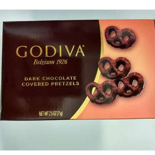 GODIVA Dark Chocolate Pretzels - 100% New