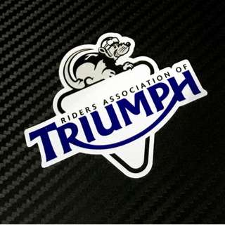 Triumph Riders association sticker mouse helmet coverset fairings box waterproof
