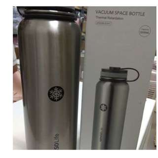 JAPAN QUALITY - Botol Minum Termos Miniso 1200ml Winters Water Bottle