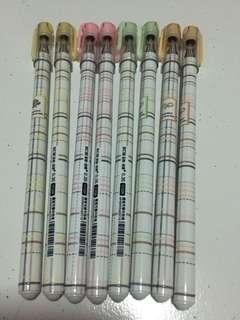 Checkered 0.38mm Blue Gel Ink Pen