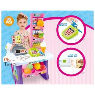 Ice Cream / Fruit Shop 35 Pcs Shopping Cart 666-136