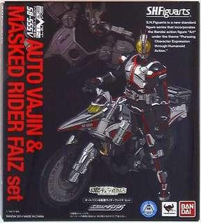 Bandai SHF /kamen rider Faiz Auto Vajin & Faiz set