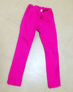 H&M Girl pink jeans age from 7 to 8 years
