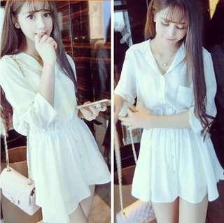 🆕 Simple White Dress