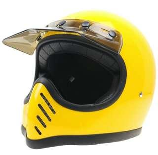 Helmet moto 3 with cap visor