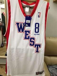 NBA Brand new Kobe Bryant all stars 2004 authentic jersey size 48, 可惜前面有一小洞