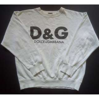 Vintage Dolce And Gabbana D&G Athletic Sweatshirt Big Logo Spell out Size M Japan