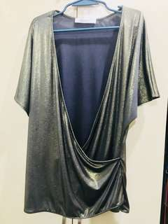 Promod Gold Faux Wrap Top