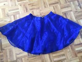 Sparkly Blue Circle Skirt