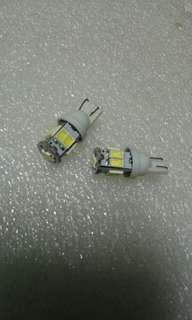 Ultra Bright T10 Car LEDs. 9LEDs SMD Type 5630 Extremely Bright. Small yet Powerful Light! Sold in Pair (2pcs LED)